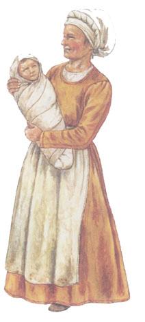 Kleidung einer frau im mittelalter